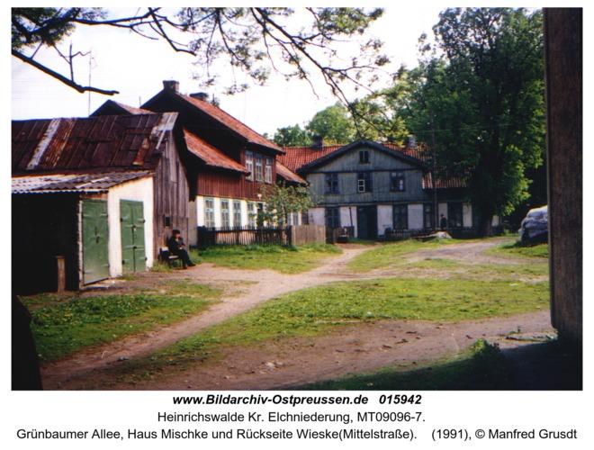 Heinrichswalde, Grünbaumer Allee, Haus Mischke und Rückseite Wieske(Mittelstraße)