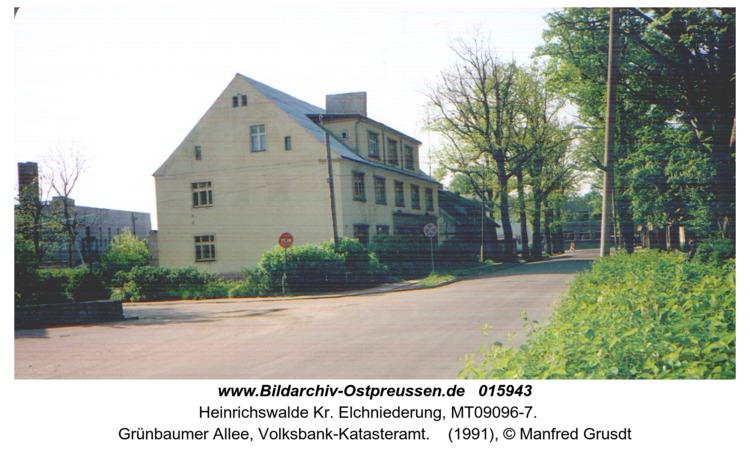 Heinrichswalde, Grünbaumer Allee, Volksbank-Katasteramt