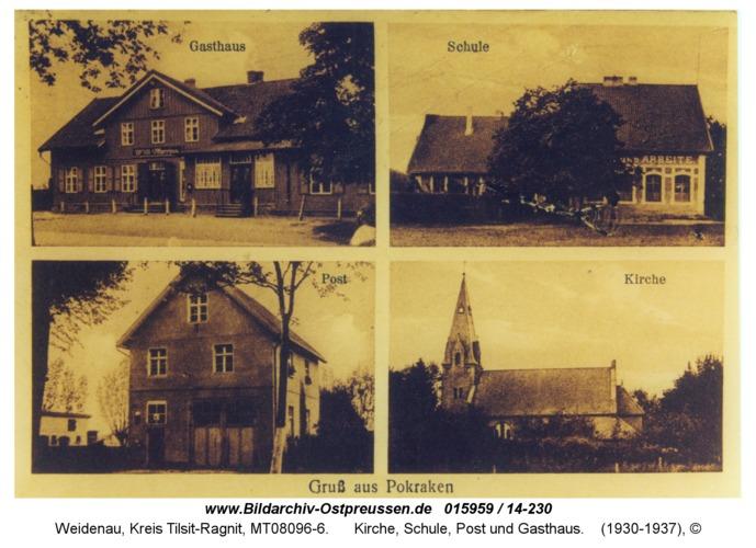 Weidenau, Kirche, Schule, Post und Gasthaus