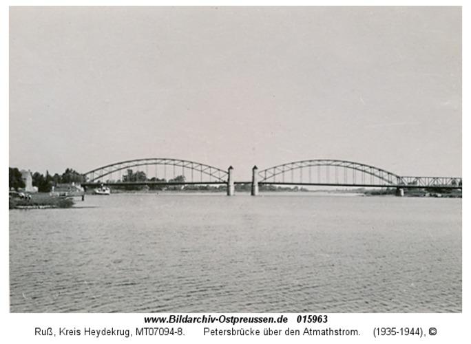 Ruß, Petersbrücke über den Atmathstrom