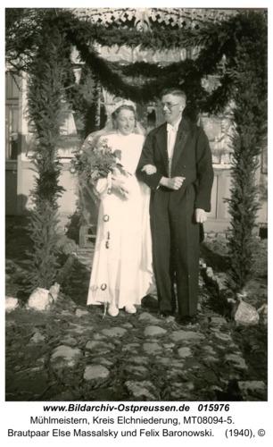 Mühlmeistern, Brautpaar Else Massalsky und Felix Baronowski