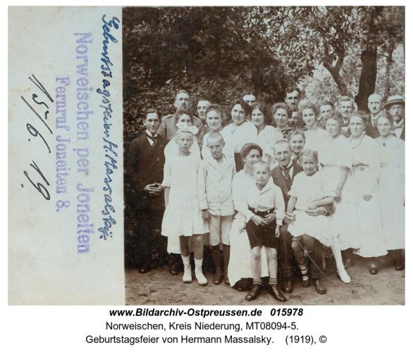 Norweischen, Geburtstagsfeier von Hermann Massalsky