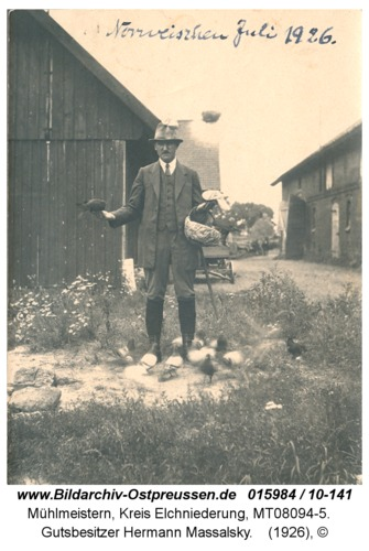 Mühlmeistern, Gutsbesitzer Hermann Massalsky