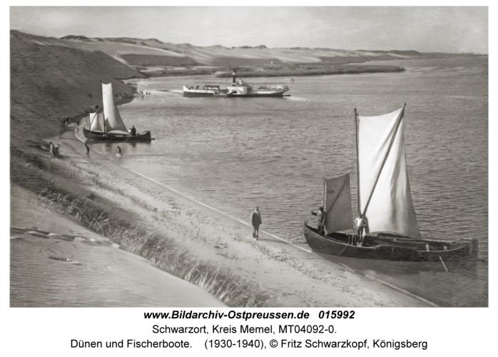 Schwarzort, Dünen und Fischerboote