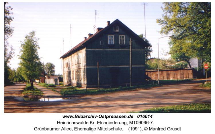 Heinrichswalde, Grünbaumer Allee, Ehemalige Mittelschule