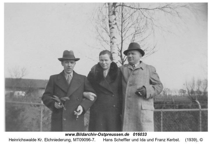 Heinrichswalde, Hans Scheffler und Ida und Franz Kerbst