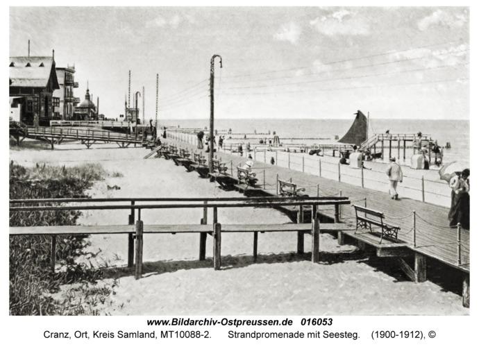 Cranz Kr. Samland, Strandpromenade mit Seesteg