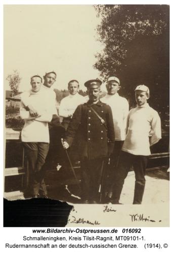 Schmalleningken, Rudermannschaft an der deutsch-russischen Grenze