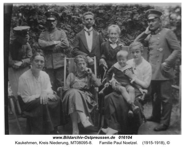 Kuckerneese, Familie Paul Noetzel