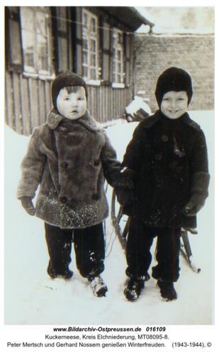 Kuckerneese, Peter Mertsch und Gerhard Nossem genießen Winterfreuden