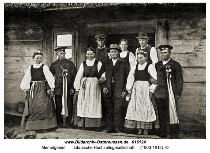 Memelgebiet, Litauische Hochzeitsgesellschaft