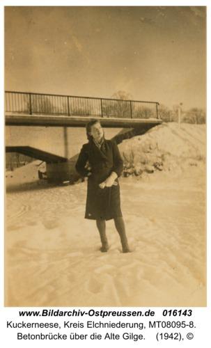 Kuckerneese, Betonbrücke über die Alte Gilge