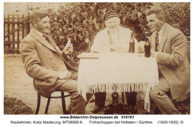 Kuckerneese, Frühschoppen bei Hollstein / Günther
