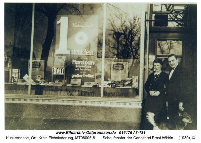 Kuckerneese, Schaufenster der Conditorei Ernst Wittrin