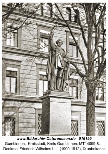 Gumbinnen, Denkmal Friedrich Wilhelm I