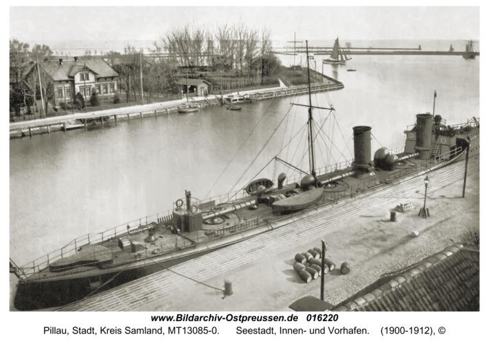 Pillau, Seestadt, Innen- und Vorhafen
