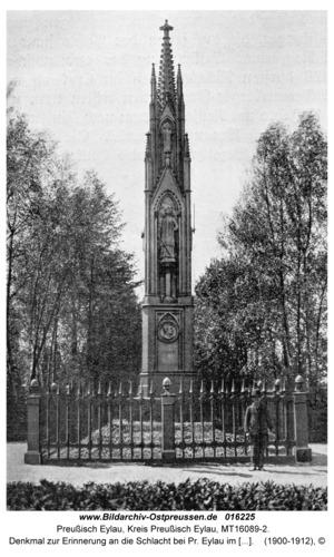 Preußisch Eylau, Denkmal zur Erinnerung an die Schlacht bei Pr. Eylau im Jahre 1807