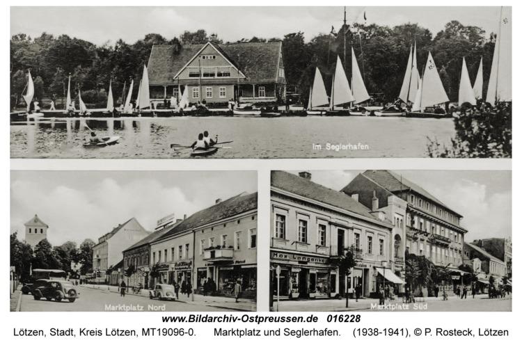 Lötzen, Marktplatz und Seglerhafen
