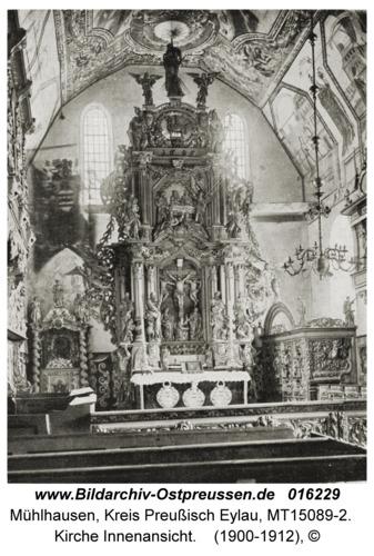 Mühlhausen Kr. Preußisch Eylau, Kirche Innenansicht