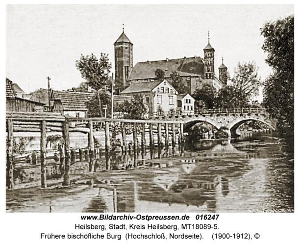 Heilsberg, Frühere bischöfliche Burg (Hochschloss, Nordseite)