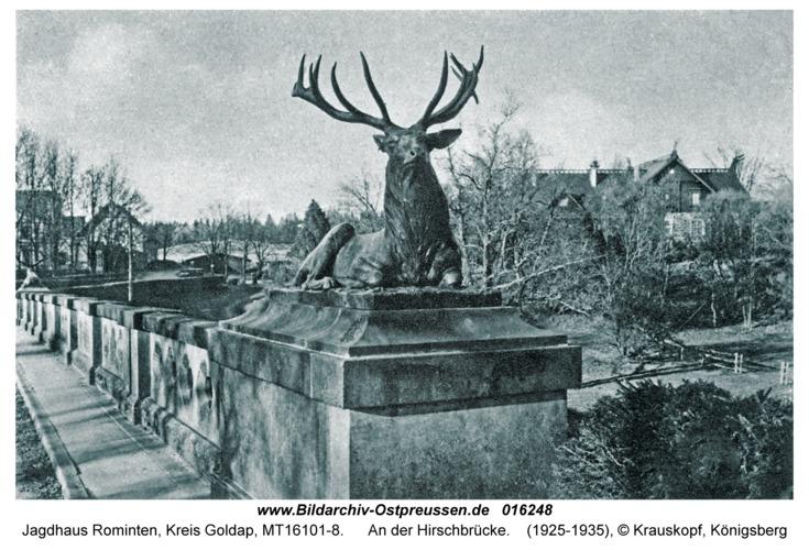 Jagdhaus Rominten, An der Hirschbrücke