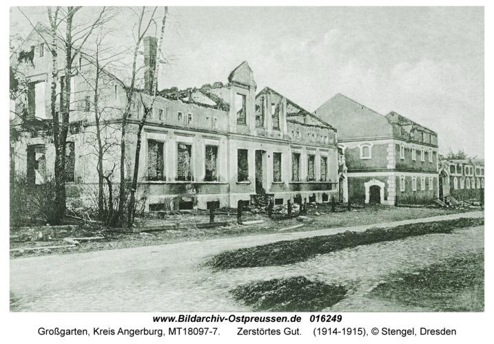 Großgarten fr. Possessern, Zerstörtes Gut