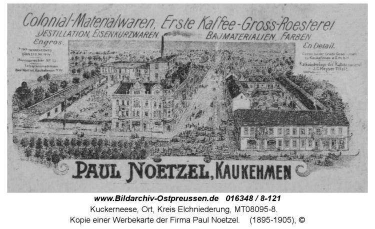 Kuckerneese, Kopie einer Werbekarte der Firma Paul Noetzel