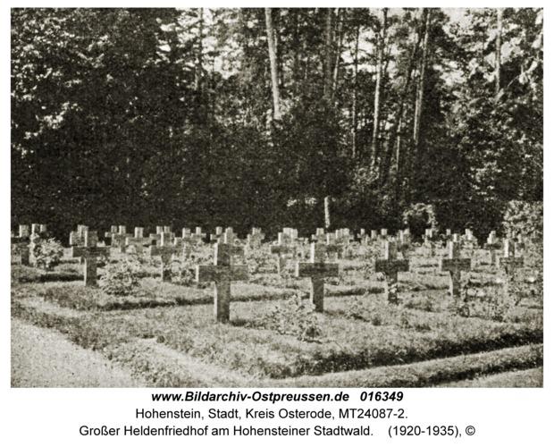 Hohenstein Kr. Osterode, Großer Heldenfriedhof am Hohensteiner Stadtwald