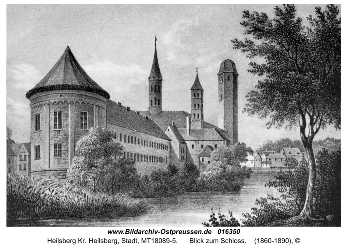 Heilsberg Kr. Heilsberg, Blick zum Schloss