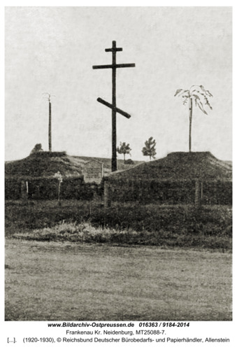 Frankenau Kr. Neidenburg, Massengrab russischer Gefallener des 1. Weltkrieges