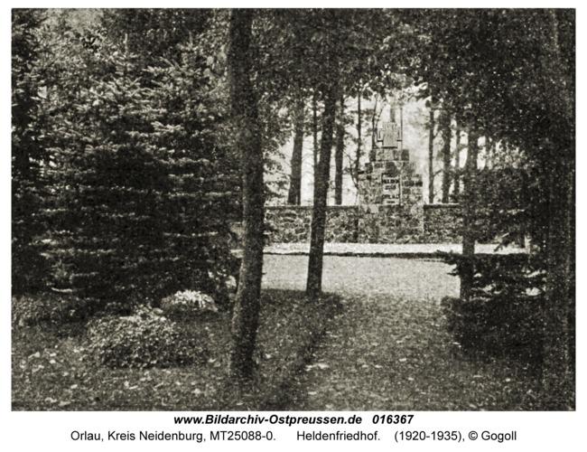 Orlau, Heldenfriedhof
