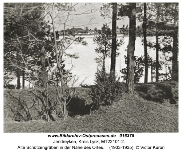Andreken, Alte Schützengräben in der Nähe des Ortes