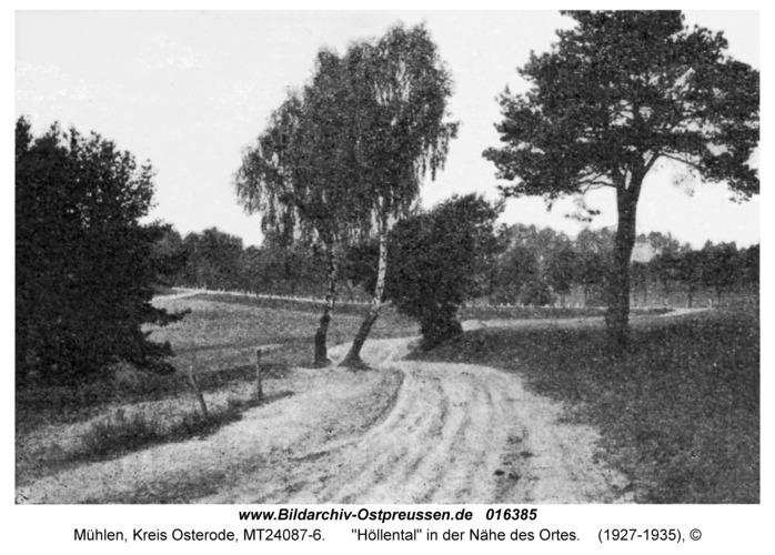 """Mühlen, """"Höllental"""" in der Nähe des Ortes"""