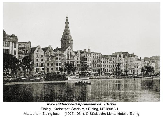 Elbing, Altstadt am Elbingfluss
