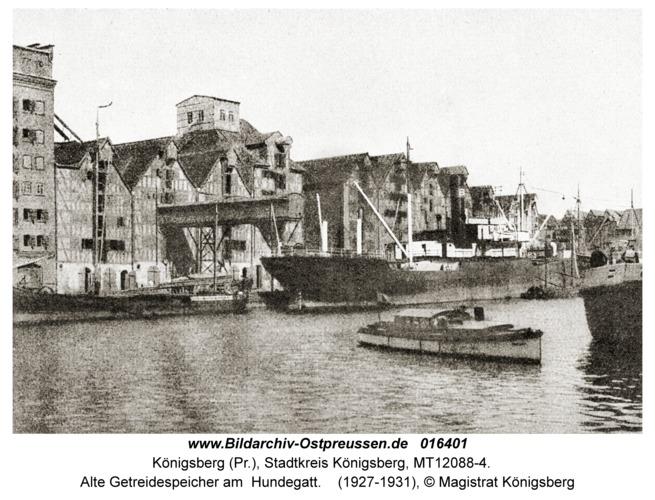 Königsberg, Alte Getreidespeicher am Hundegatt