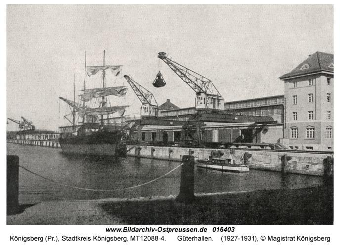 Königsberg, Güterhallen