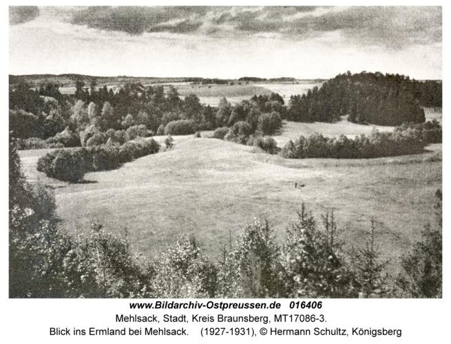 Mehlsack, Blick ins Ermland bei Mehlsack