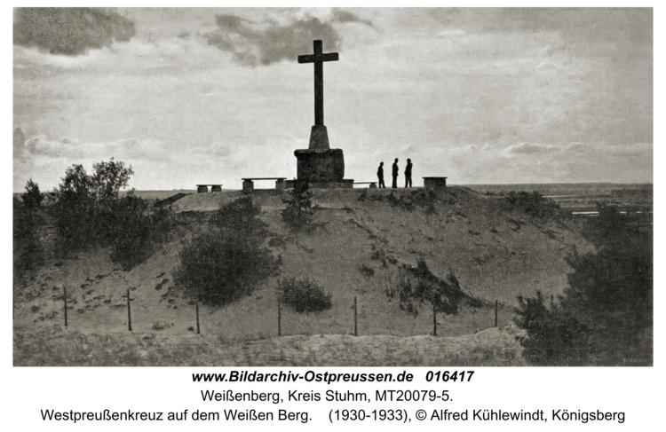 Weißenberg, Westpreußenkreuz auf dem Weißen Berg