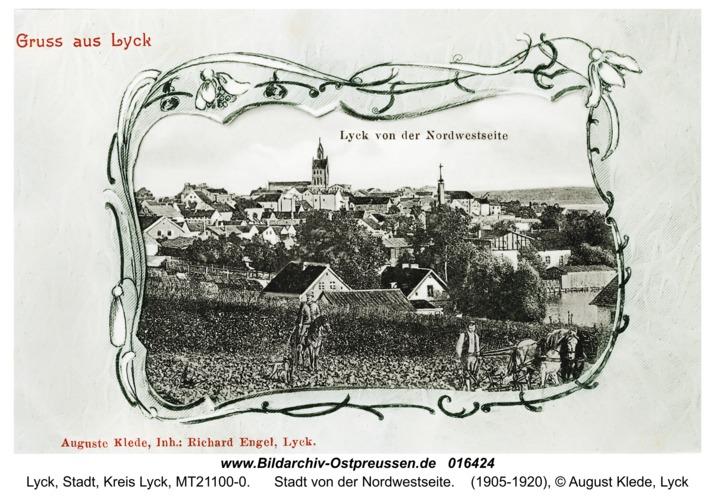 Lyck, Stadt von der Nordwestseite