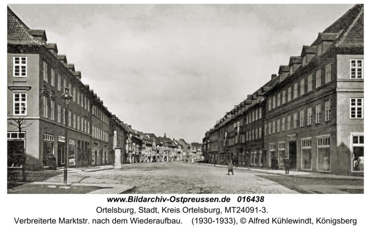 Ortelsburg, Verbreiterte Marktstr. nach dem Wiederaufbau