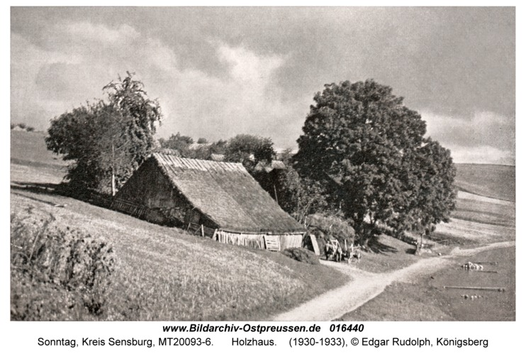 Sonntag, Holzhaus