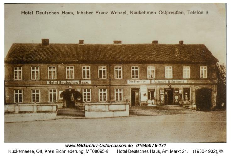 Kuckerneese, Hotel Deutsches Haus, Am Markt 21