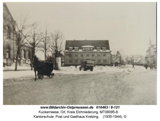 Kuckerneese, Kantorschule, Post und Gasthaus Kretzing