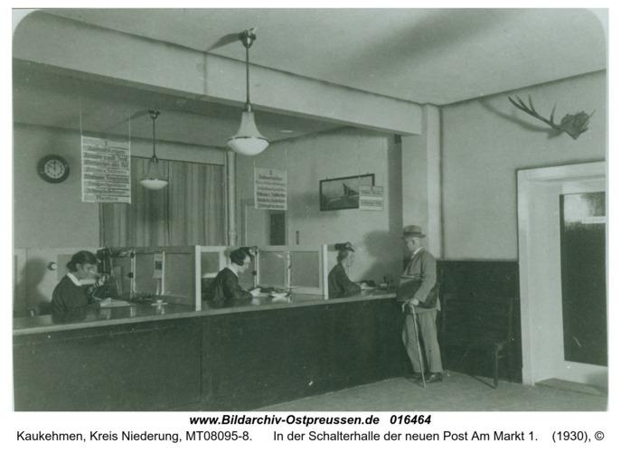 Kuckerneese, In der Schalterhalle der neuen Post Am Markt 1