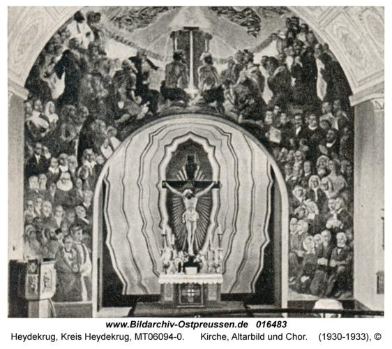 Heydekrug, Kirche, Altarbild und Chor