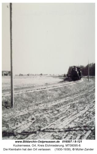 Kuckerneese, Die Kleinbahn hat den Ort verlassen