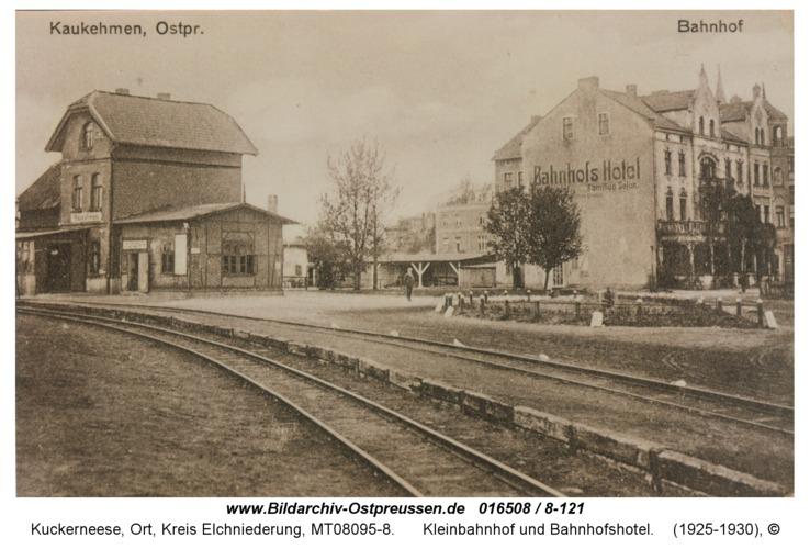 Kuckerneese, Kleinbahnhof und Bahnhofshotel
