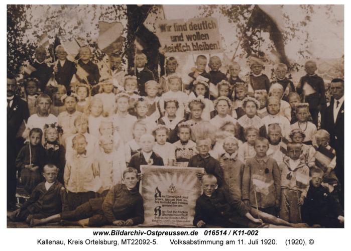 Kallenau, Volksabstimmung am 11. Juli 1920