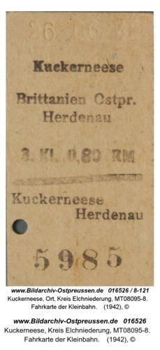 Kuckerneese, Fahrkarte der Kleinbahn