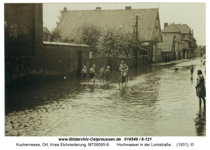 Kuckerneese, Hochwasser in der Lorkstraße